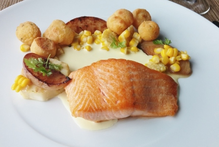 Pan Seared Wild King Salmon