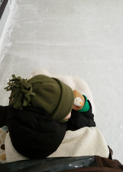 Stroller Ice Skating