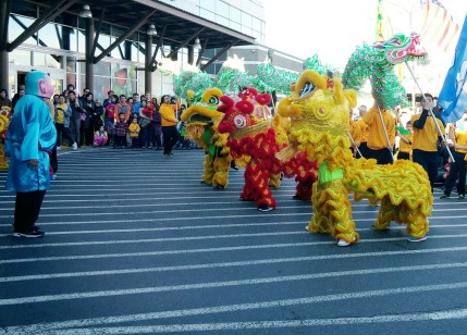 Chinese Lion Dance celebrating the New Year